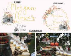 Items similar to Premade Logo Logo Design Floral Logo Watercolor Logo Photography Business Logo Flower Logo Gold Logo Branding Kit Package on Etsy Mark Morgan, Floral Logo, Branding Kit, Photography Logos, Business Logo, Logo Design, Place Card Holders, Watercolor, Handmade Gifts