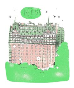 An illustration by James Gulliver Hancock. Eloise at the plaza!