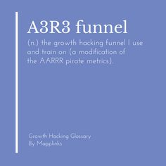 The growth hacking funnel I use and train on (A modification of the AARRR Pirate Metrics). Growth Hacking, Event Marketing, Hacks, Train, Strollers, Tips