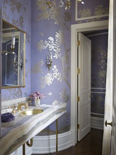 French Bathroom in Greenwich, CT by Suzanne Kasler Interiors