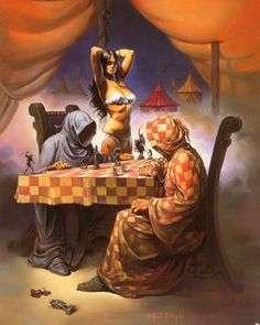 The 7 or 8 Frank Frazetta Prints Robert Rodriguez Wants You to Have Dune Characters, Female Characters, Jodorowsky's Dune, Frank Frazetta, Sword And Sorcery, Boris Vallejo, Pulp Art, Fantastic Art, Awesome