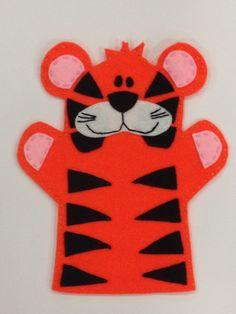 Tiger Hand Puppet on Etsy, £7.00