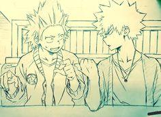 Boku no Hero Academia || Kirishima Eijirou, Katsuki Bakugou (Dibujo/Drawing)