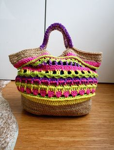 Crochet pattern, market shopper bag pattern, granny crochet bag pattern, crochet shopper pattern 234 Instant Download  Who wouldn't want to go to the market with this super cute boho shopper bag?!, I have made many bags in my design career but this one has stolen my heart!, I worked over 3 weeks on it! I did and undid plenty of times until I figure out what I wanted it to look like, I am now very happy with the result!. The Hemp twine reminds me of those Saturday morning going to the market…