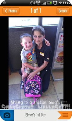 We used the Elmer's 1st Day App to buy School Supplies at Walmart and give to two very special people as part of the #BagItForward campaign!! #Cbias http://goingcrazywannago.com/2012/07/elmers-1st-day-bag-it-forward-donation