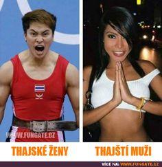 FunGate.cz je tvá brána do světa zábavy. Najdeš zde obrázky, videa, gify, online hry, zajímavosti, vtipy a další... | Thajské ženy vs. thajští muži