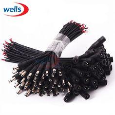 5/10 sztuk 5.5x2.1 Wtyczki DC mężczyzna lub Kobieta Cable Złącze Przewodu Do 3528 5050 LED Strip światło