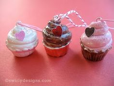 mini clay cupcakes