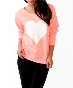 LOVE   only $22.80 @ forever 21: Jumbo Heart PJ (lounge-wear) pullover