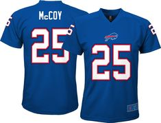 98d590302 Team Apparel Youth Buffalo LeSean McCoy  25 Blue T-Shirt