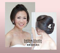 Asian makeup and hair updo, Toronto