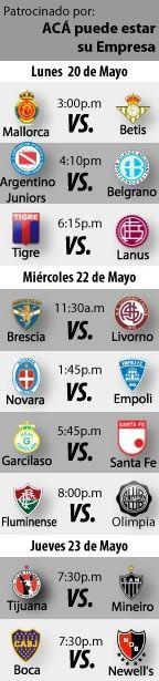 Fútbol para esta semana: Del 20 al 23 de Mayo   http://blogueabanana.com/deportes/91-futbol/1048-futbol-recomendado-20-al-23-mayo.html