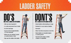 Ladder Safety Do's and Don't's - Safety Banner Health And Safety Poster, Safety Posters, Safety Quotes, Culture Quotes, Construction Safety, Workplace Safety, Safety First, New Poster, First They Came