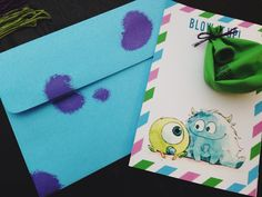 Sandra Fiorella♥: Making my own baby shower invitations!  Theme: Monsters Inc Baby Shower