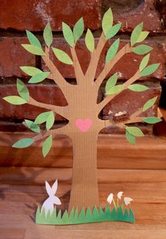 spring tree for nature table
