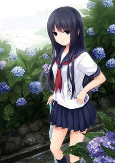 Anime girl , Artist: Coffee Kizoku ( http://www.pixiv.net/member.php?id=92448 )