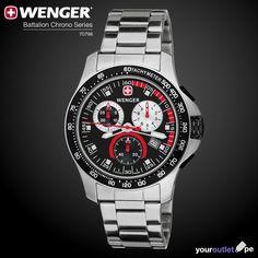 Nuevo en Your Outlet:  #Reloj #Wenger Battalion Field Chrono 70798 con esfera de acero inoxidable cepillado, dial color negro y pulsera de acero inoxidable.  Consíguelo aquí al mejor precio.