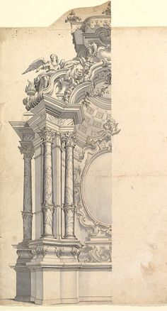 Pin by kevin keller on architectural drawings архитектурный дизайн, архитек Architecture Antique, Neoclassical Architecture, Classic Architecture, Historical Architecture, Architecture Details, Architectural Prints, Architectural Elements, Fantasy Art, Art Nouveau