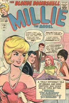 """Millie the Model #126-this was at the height of Millie The Model """"Romance Art""""! My favorite period of this comic"""