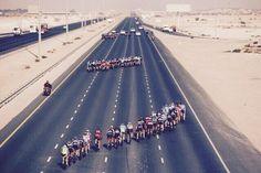 Tour de Qatar 2015.  Abanicos...