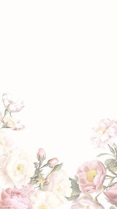 Elegant floral frame design vector | premium image by rawpixel.com / Donlaya / ploy / manotang Framed Wallpaper, Flower Background Wallpaper, Flower Backgrounds, Wallpaper Backgrounds, Iphone Wallpaper, Frame Floral, Flower Frame, Watercolor Wallpaper, Watercolor Flowers