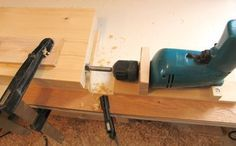 Make your own horizontal drilling jig (for times and places when a drill press won't work)