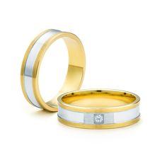 SAVICKI - Obrączki ślubne: Obrączki z dwukolorowego złota (Nr 226) - Biżuteria od 1976 r.