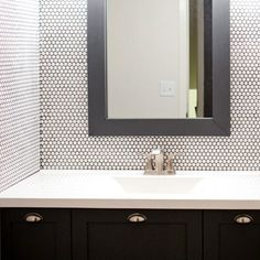 Four Tips Before You Install Penny Tile - House Becoming Home Small Bathroom With Shower, Modern Bathroom, Bathroom Ideas, Master Bathroom, Diy Light House, Penny Wall, Clean Bathtub, Bathtub Cleaning, Bathroom Renovations