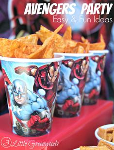 Need to plan an Avengers Party or Superheroes Party in a hurry? You will LOVE these Easy Avengers Party Ideas! Super fun Avengers Movie Marathon party plan with simple party decor, yummy Superheroes treats, and fun games! #AvengersUnite #CBias #ad