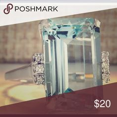 Aquamarine 925 Silver Ring Size 9 Condition : 100% Brand New & High Quality  Material: 925 Sterling Silver  Main Stone: Aquamarine Ruby  Is a Gorgeous Ring is very Beautiful. Jewelry Rings