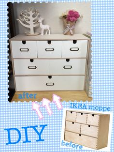 IKEA HACK(moppe). Kallax, Ikea Hacks, Ikea Storage Boxes, Cool Bedrooms For Boys, Small House Living, Office Workspace, Desk Organization, Shabby, Diy Projects