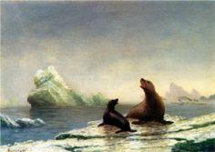 Seals - Albert Bierstadt