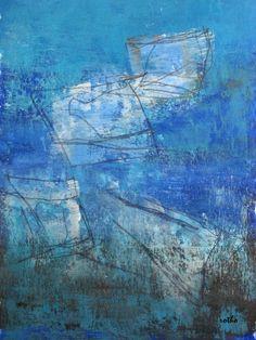 """broken dreams""2 Gouache, Tusche, Aquarellstift in Passepartout 30x40"