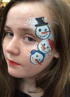 Snowmen Christmas face design