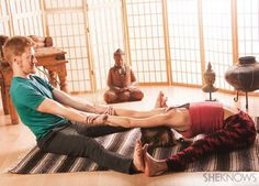 Shake things up by trying out some couples yoga poses with your partner