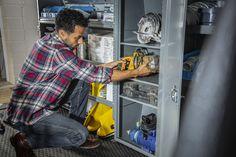 Adjustable Cabinet w/ Lock, Full Door, Gray Pilates For Men, Steel Cabinet, Cargo Van, Cabinet Storage, Storage Solutions, Men Casual, Shelves, Grey, Mens Tops