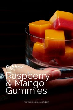 Raspberry. Mango. Two scrummy flavours married together in one healthy, gut-loving sweet-treat. AIP Recipe | AIP Sweet | Gummies Recipe | Gluten Free Sweet | Dairy Free Sweet | Gut-loving recipe | Healthy Gummies | Fruit Gummies | Paleo | Kid-Friendly Recipe | Healthy snacks for kids | AIP Coconut-Free Snack Grass Fed Gelatin, Fruit Snacks, Healthy Snacks, Healthy Ice Cream, Anti Inflammatory Recipes, Kid Friendly Meals, Food Allergies, Raspberry, Mango