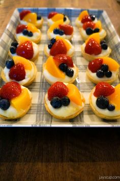 Fruit tart recipe - yum!