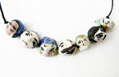 // 1920s hand painted beads