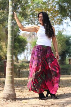Culottes, Yoga Pants, Drop Crotch Pants, Aladdin Pants, Leisure Pants, Hippie Pants, Trouser Skirt, Color Tie Dye Modest Skirts, Long Maxi Skirts, Boho Skirts, Aladdin Pants, Tie Dye Colors, Drop Crotch Pants, Hippie Pants, Beach Skirt, Full Length Skirts