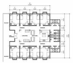 Resultado de imagen para architecture plans for students residence Student Apartment, Student House, Apartment Plans, The Plan, How To Plan, Dorm Design, Hotel Room Design, Dormitory Room, Student Dormitory
