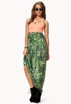 Neon Tropic Maxi Dress #forever21