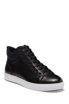French Connection Alexander Mid Sneaker In Black High Top Sneakers, Shoes Sneakers, French Connection, Lace Up, Nordstrom, Mens Fashion, Leather, Shopping, Black