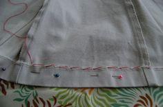hand stitch blind hem how-to- skirts & slacks...