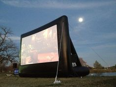 Slab Cinema outdoor movie at Woodlawn Lake Park, in San Antonio