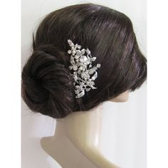Large crystal hair comb,bridal hair comb, wedding brooch comb, bridal... ($55) ❤ liked on Polyvore