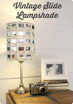 Make a lampshade out of vintage slides - when the light shines through it is amazing!