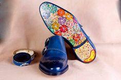 ハンドメイドの靴イワンCrivellaro