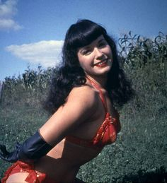 Pinup girl Bettie Page