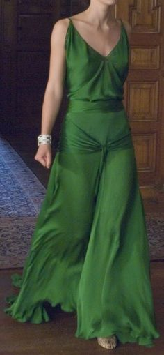 Gaby's green dress at the Mallerton Gala.